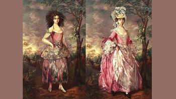 Hermia costumes designed by Kevin Pollard for <em>The Enchanted Island</em>.