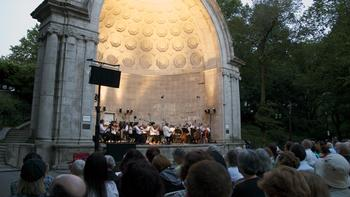 Twilight in Central Park as Orpheus performs Mozart's Symphony No. 29.