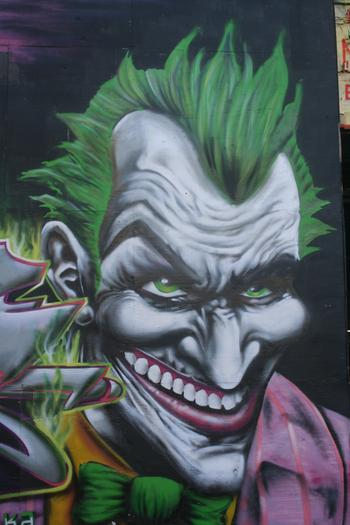 Meres The Curator Of Pointz Spray Painted The Joker From Batman