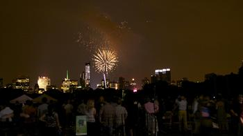 Post-concert fireworks.