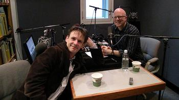 Tenor Ian Bostridge with Carnegie Hall Live host Fred Child.