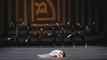 Jennifer Ringer, Benjamin Millepied and company in <em>Dybbuk</em>, choreographed by Jerome Robbins