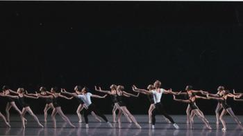 New York City Ballet in <em>The Four Temperaments</em>, choreographed by George Balanchine