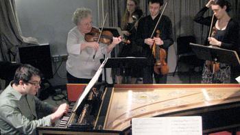Members of Julliard415 performing in the WQXR studios
