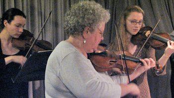 Members of Juilliard415 performing in the WQXR studios