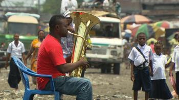 Tuba player Papy Nkituzeyi