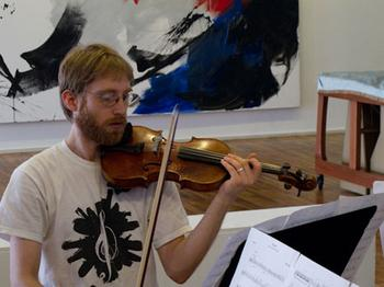 JACK Quartet in rehearsal