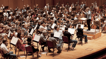 The final rehearsal of the 2010 BSO Summer Academy Orchestra.