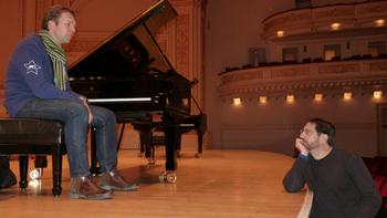 Jeff Spurgeon and Leif Ove Andsnes at Carnegie Hall.