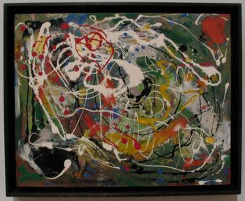 Hans Hofmann's painting 'Spring,' from 1944-45 (possibly earlier) — reflecting a use of the drip technique at least two years before Pollock would make it famous.