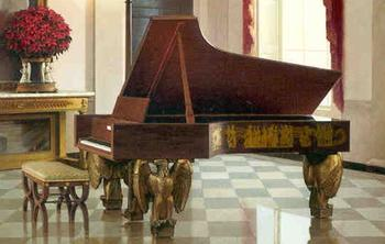 The 300,000th piano made by Steinway that is currently in the East Room of the White House.