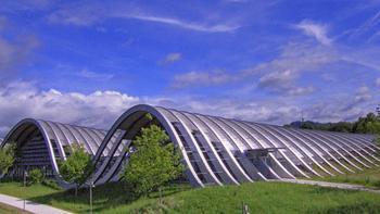 The Paul Klee Museum in Bern, Switzerland, designed by Renzo Piano