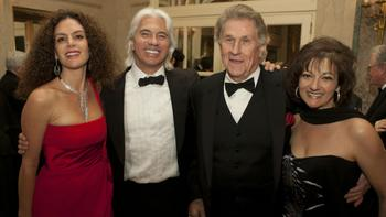 Left to right: Florence Illi, Dmitri Hvorostovsky, Sherrill Milnes and his wife Maria Zouves.