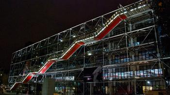 The Georges Pompidou Centre in Paris, France, designed by Renzo Piano