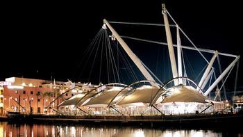 Renzo Piano designed the Porto Antico in Genoa, Italy.