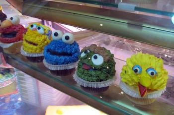 Sesame Street Cupcakes in NYC's Chelsea Market