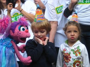 Abby Cadabby and Children celebrate Sesame Street's 40th Anniversary