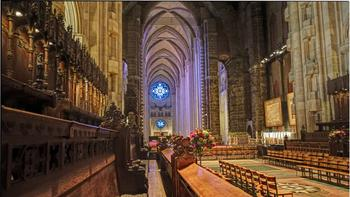 One of Benzel's favorite spots in NYC: the Cathedral Church of St. John the Divine in Morningside Heights, Manhattan
