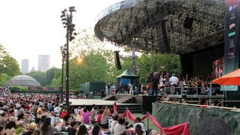 The Silk Road Ensemble, NYC school students and guest artists perform at Central Park Summerstage.