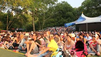 The crowd at Central Park Summerstage on June 7.