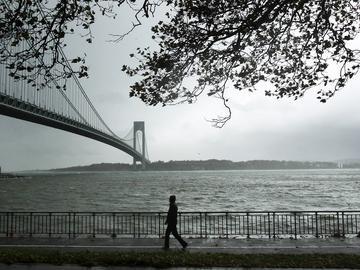 Hurricane Sandy beginning to make landfall on October 29, 2012