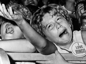 A tearful Beatle lover at the Indiana State Fair in 1964