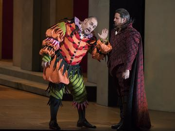 Quinn Kelsey in the title role and Matthew Polenzani in 'Rigoletto'