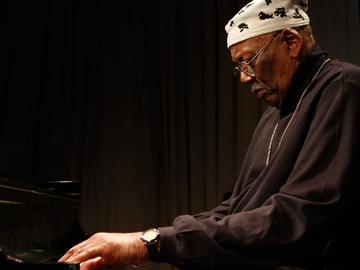 Randy Weston performs in the Soundcheck studio.