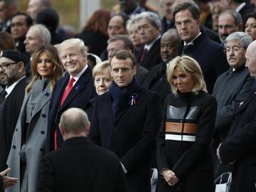 and first lady Melania Trump to attend a commemoration ceremony for Armistice Day, 100 years after the end of World War One. Nov. 11, 2018