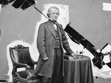 Andrew Johnson, 17th president of the United States.