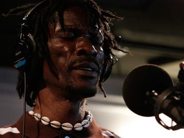 Sierra Leone's Janka Nabay performs live in the Soundcheck studio.
