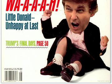 Donald Trump on the cover of Spy magazine from 1989.