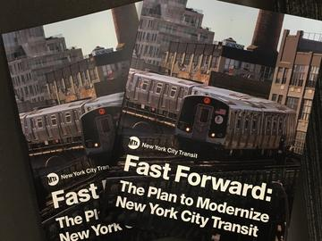 NYCTA President Andy Byford released his 10-year subway modernization plan known as Fast Forward. He's calling for all new signals, bus routes, thousands of new subway cars and buses.