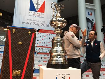 Jimmy Spithill, the helmsman and two-time winner of America's Cup who races for Oracle Team USA. He'll be competing in an America's Cup race in Manhattan, which hasn't held races since 1920.