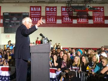 Bernie Sanders in Des Moines, Iowa