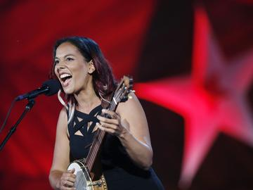 Rhiannon Giddens at the Boston Pops Fireworks Spectacular in Boston on Tuesday, July 3, 2018