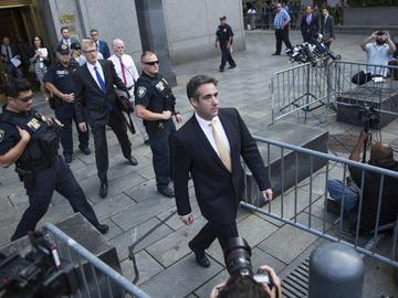 Michael Cohen, former lawyer to President Donald Trump, departs following his appearance in Federal Court on Tuesday, Aug. 21, 2018, in New York.