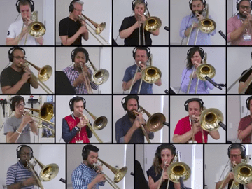 'Bohemian Rhapsody,' arranged for 28 trombones.