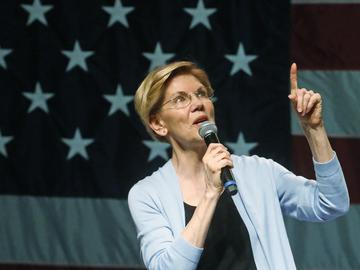 Democratic presidential candidate Sen. Elizabeth Warren, D-Mass., speaks during an campaign rally Wednesday, April 17, 2019, in Salt Lake City.