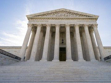 The Supreme Court in Washington as the justices prepare to hand down decisions, Monday, June 17, 2019.