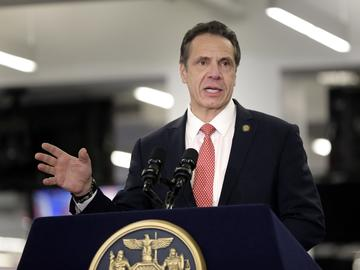 In this Feb. 14, 2019, file photo, New York Gov. Andrew Cuomo speaks before signing the Child Victims Act in New York.