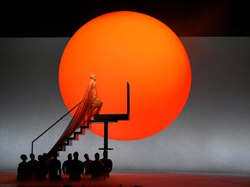 Anthony Roth Costanzo in the title role of Glass's 'Akhnaten.'