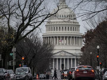 The Capitol is seen in Washington, Monday, Dec. 2, 2019, as lawmakers return from the Thanksgiving recess.