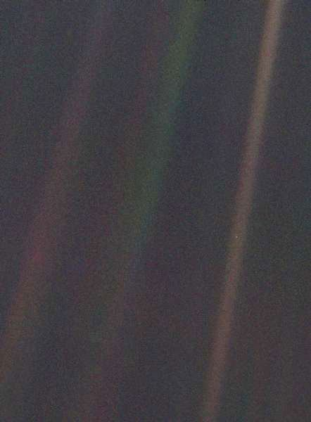 The 'Pale Blue Dot', a photograph of Earth taken by Voyager 1