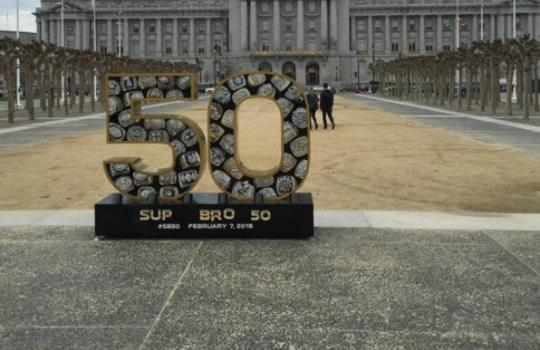 San Franciscans have had some fun with a Super Bowl 50 sculpture