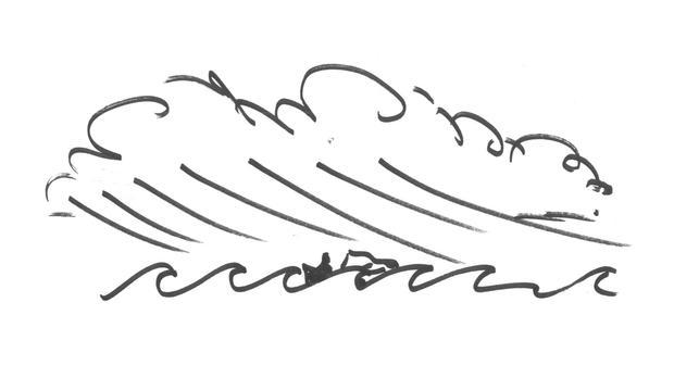 Stronger wind, larger waves.