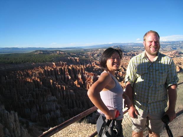 Jeff Viniard and Sookyoung Lee at Bryce Canyon.