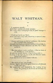 song of myself walt whitman essay 'song of myself' is one of the most representative poems of walt whitman it reveals what walt whitman is and what he stands for in this poem, the poet discovers.