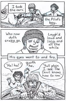 Page 7-12: The shock of the waterlogged and seemingly dead Mariner springing to life proves to be too much for the Pilot and his son.