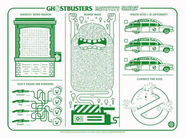 Ghostbusters Activity Sheet by Clark Orr